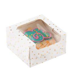 kutija za kolače i torte sa štampom i prozorom